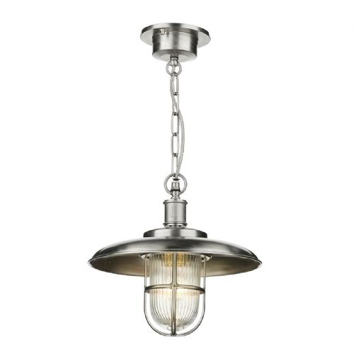 Captain Pendant Nickel Porch Light IP43 (Hand made, 7-10 day Delivery)